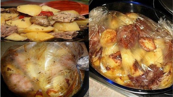 Картофель в рукаве для запекания с укропом